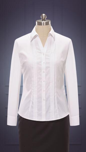 女长袖V领衬衫  货号:W10010