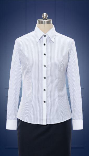 女长袖正规领衬衫  货号:W10030