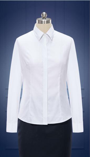 女长袖正规领衬衫  货号:W10060