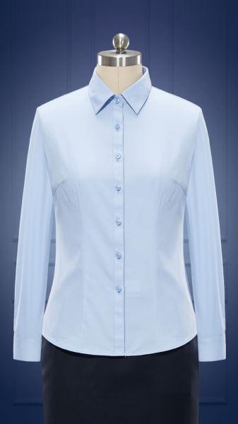 女长袖正规领衬衫  货号:NCl08