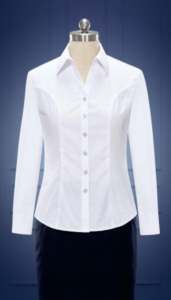 女长袖V领衬衫  货号:NCl07