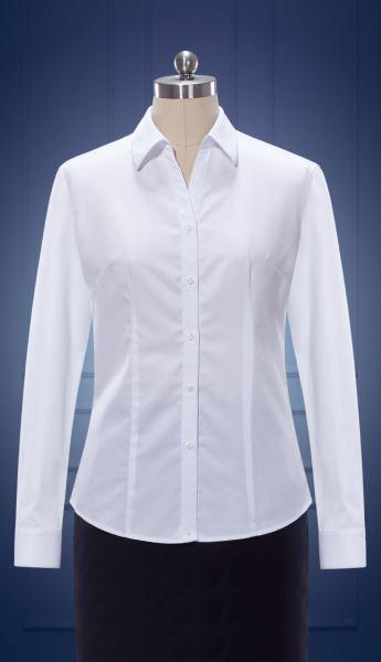 女长袖V领衬衫  货号:NCl SO