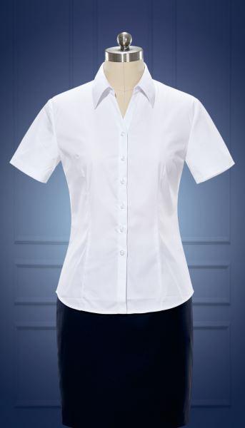 女短袖V领衬衫  货号:Nc506