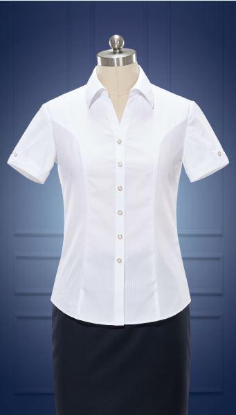 女短袖V领衬衫  货号:NC507