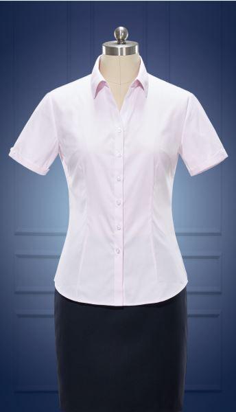 女短袖V领衬衫  货号:Nc508