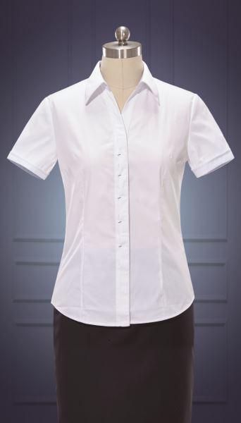 女短袖V领衬衫  货号:NC509