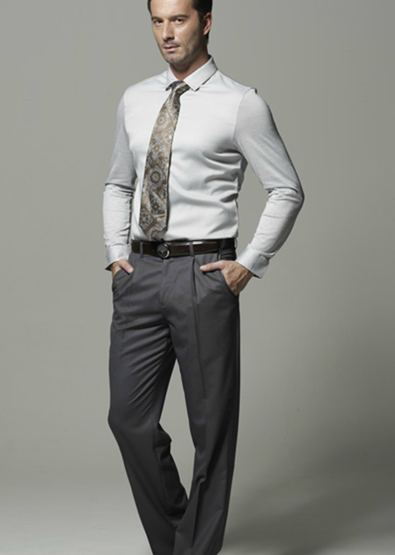 新款长袖商务衬衫