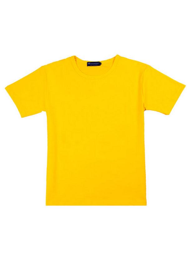 正黄色新款反领文化衫
